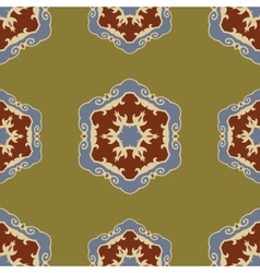Ethnic seamless ornamental pattern boho vector image