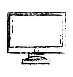 figure computer screen electronic technology vector image