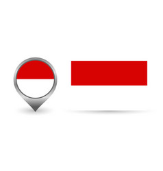 Flag indonesia location point with vector