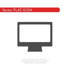 Flat icon computer pc for web business finance vector
