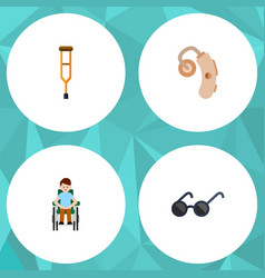 Flat icon disabled set of stand disabled person vector