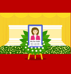 funeral woman in thai style at indoor temple vector image