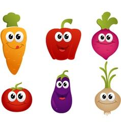 funny cartoon vegetable vector image