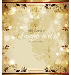 Golden Floral Frame vector