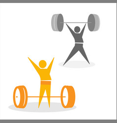 Golden weight from collection the sports vector