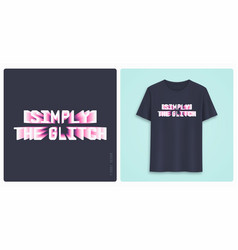 Graphic tee shirt design print with styled text vector