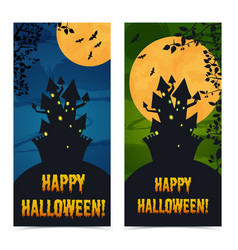 greeting halloween vertical banners vector image