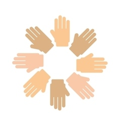 Hands human around isolated icon vector