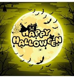 Happy Halloween sign for Halloween vector