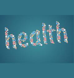 Healthcare concept - tablets vector