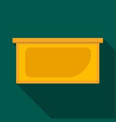 honey wood frame icon flat style vector image