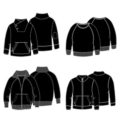 Hoodies 3 Black vector