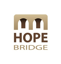 Hope bridge abstract icon vector