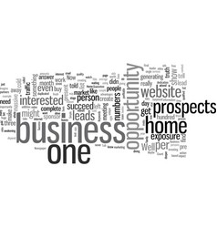how to guarantee your success in any home business vector image