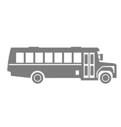 icon of school bus side view - silhouette of bus vector image