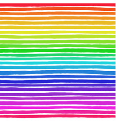 Irregular striped rainbow pattern vector