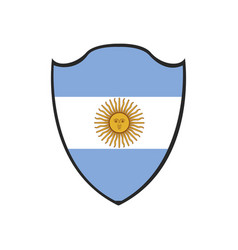 Isolated argentinian flag vector