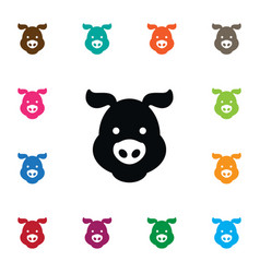 Isolated swine icon hog element can be vector