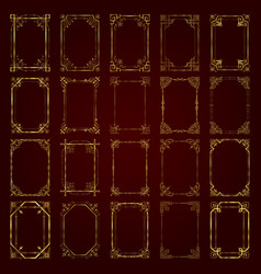 Large collection of golden calligraphic frames vector
