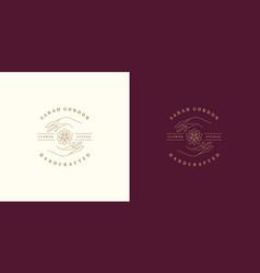 line logo emblem design template - female vector image