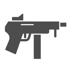 machine gun solid icon automatic bomb vector image
