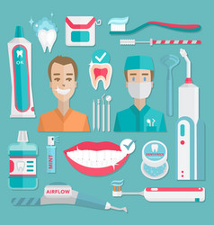 medical teeht hygiene infographic vector image