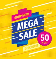 mega sale concept promotion banner vector image