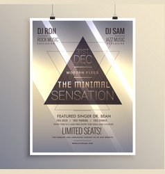 minimal flyer template for new year eve vector image