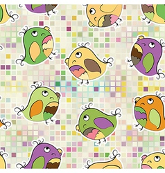 Mosaic and parrot vector