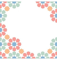 mosaic moroccan template vector image vector image