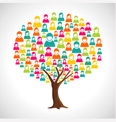 People tree concept for community teamwork vector