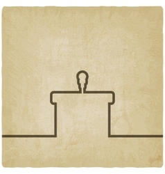 podium with microphone old background vector image