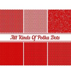 Polka Dot Round Background Set vector image