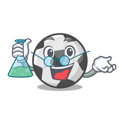 Professor soccer ball isolated with mascot vector