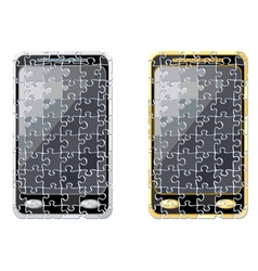 puzzle smart phone vector image