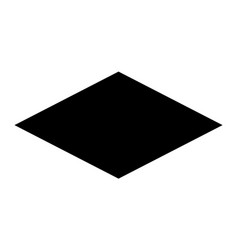 Rhombus black web icon with dark frame or vector