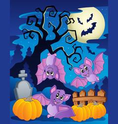 scene with halloween tree 5 vector image