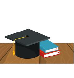 School graduation cap vector
