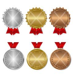 set award medals vector image