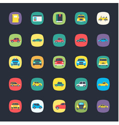 set of app colored icons vector image