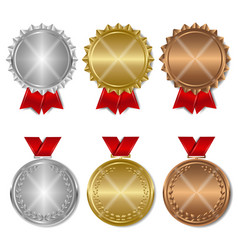 Set of award medals vector