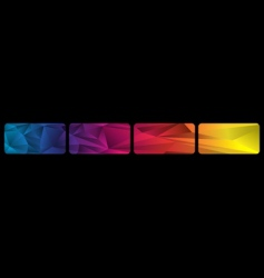 set spectrum banners vector image