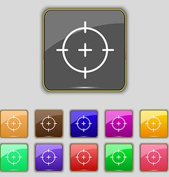 Sight icon sign Set with eleven colored buttons vector