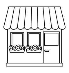 Store icon outline style vector image