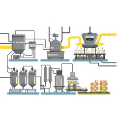 Sunflower oil production process filtration vector