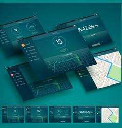 Tablet ui design concept vector