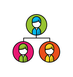 teamwork people avatars network vector image