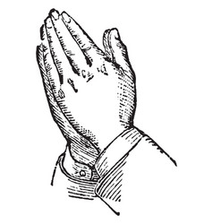 This picture represents the hands supplication vector