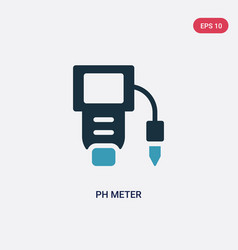 Two color ph meter icon from science concept vector