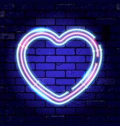 valentines day neon signboard vector image